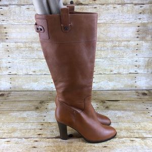 Banana Republic Cognac Luella Leather Boots
